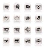 De online Pictogrammen van de Winkel Royalty-vrije Stock Foto's