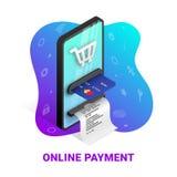 De online pictogrammen van het betalingsconcept royalty-vrije illustratie