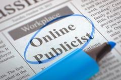 De online Publiciteitsagent wordt lid van Ons Team Stock Foto