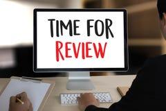 De online tijd van de Overzichtenevaluatie voor de Beoordeling van de overzichtsinspectie royalty-vrije stock fotografie