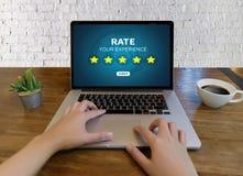 De online tijd van de Overzichtenevaluatie voor de Beoordeling van de overzichtsinspectie royalty-vrije stock afbeeldingen