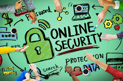 De online van de de Informatiebescherming van het Veiligheidswachtwoord Privacy Internet stock afbeelding