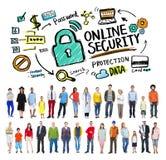 De online van de de Informatiebescherming van het Veiligheidswachtwoord Privacy Internet royalty-vrije illustratie