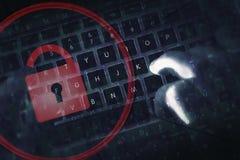 De Online Veiligheid van het hakkerbewijs royalty-vrije stock foto