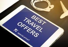 De online website van de reisbureau speciale korting Royalty-vrije Stock Foto's