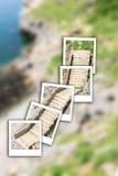 De onmiddellijke foto van de trapsteen Stock Afbeeldingen