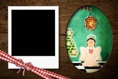 De onmiddellijke Kerstkaart van het fotokader Royalty-vrije Stock Foto