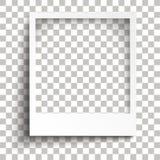 De onmiddellijke Transparante Schaduwen van het Fotokader royalty-vrije illustratie