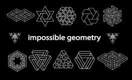 De onmogelijke vectorreeks van meetkundesymbolen Stock Fotografie