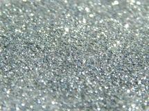 De onscherpe achtergrond van zilver schittert fonkeling Royalty-vrije Stock Afbeelding