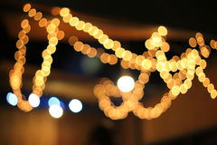 De onscherpe lichte abstracte achtergrond van de neonnacht Stock Fotografie