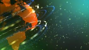 De ontdekking van nieuwe planeten royalty-vrije illustratie