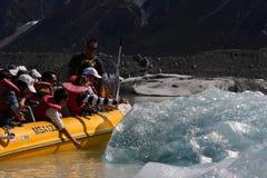 De Ontdekkingsreizigers van de gletsjer, Nieuw Zeeland Stock Foto