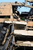 De ontploffing van de aardbeving stock foto