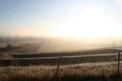 De ontploffing van de atoombom in woestijn stock afbeelding