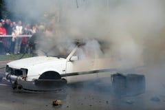 De ontploffing van de auto Stock Fotografie
