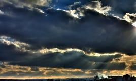 De ontploffing van de zon stock foto