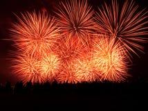 De ontploffing van het vuurwerk Stock Afbeelding