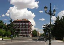 De Ontploffing van Spanje Madrid van het Koninklijke Vierkant stock afbeeldingen