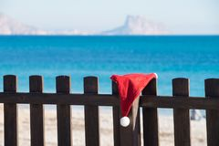 De ontsnapping van het Kerstmisstrand royalty-vrije stock foto