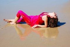 De ontspanning van het strand Stock Afbeeldingen