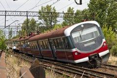 De ontsporing van de trein stock afbeeldingen