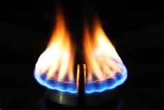 De ontsteking van het gas stock foto's
