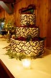 De ontvangstcake van het huwelijk Stock Afbeelding