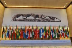 De ontvangstzaal in het Internationale de Overeenkomst en de Tentoonstellingscentrum van Wuzhen Internet stock afbeelding