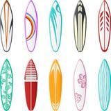 De ontwerpen van de surfplank Stock Afbeelding