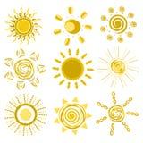 De ontwerpen van de zon Stock Foto's