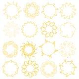 De ontwerpen van de zon   Royalty-vrije Stock Foto's