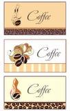 De ontwerpen van het malplaatje van adreskaartje voor koffiewinkel Royalty-vrije Stock Foto's