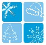 De ontwerpen van Kerstmis Stock Afbeeldingen