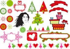 De ontwerpen van Kerstmis royalty-vrije illustratie