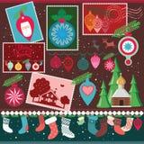De ontwerpeninzameling van Kerstmis Stock Afbeeldingen