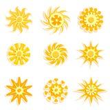 De ontwerpenvector van de zon Stock Foto
