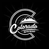 De ontwerpsjabloon van Colorado Springs De vector en de illustratie van Colorado Springs royalty-vrije illustratie
