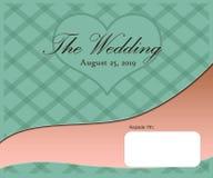 De ontwerpsjabloonkunstwerk van de huwelijkskaart royalty-vrije illustratie