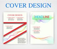 De ontwerpsjabloonmeetkunde van de boekdekking Vector illustratie U beeld stock foto