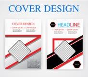 De ontwerpsjabloonmeetkunde van de boekdekking Vector illustratie U beeld royalty-vrije stock foto