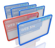 De ontwikkeling van de website Royalty-vrije Stock Foto's