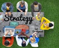 De Ontwikkelingsconcept strategie van de Bedrijfsgrafiekvisie stock foto's