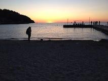 De ontzagwekkende zonsondergang van Wisconsin van de deurprovincie royalty-vrije stock afbeeldingen
