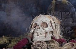 De Onverbiddelijke Maaimachine van Halloween Stock Foto's