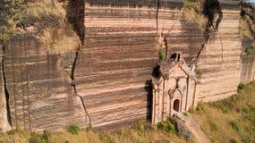 De onvolledige Pahtodawgyi-pagode royalty-vrije stock afbeelding