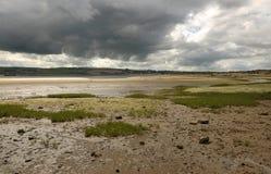 De onweerswolken van de zomer. Stock Foto's