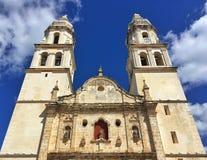 De Onze Dame van de Onbevlekte Ontvangeniskathedraal in Campeche, royalty-vrije stock afbeeldingen