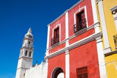 De Onze Dame van de Onbevlekte Ontvangeniskathedraal Campeche, me royalty-vrije stock foto's