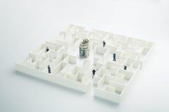 De onzekerheid van geld en zaken Stock Fotografie